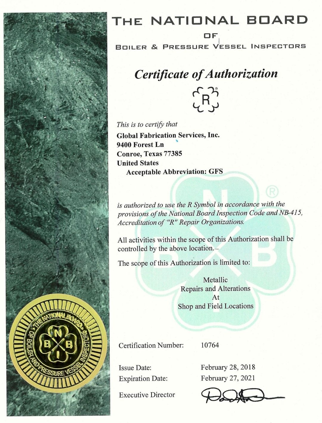 NB R Certification